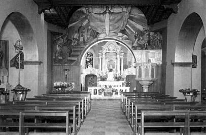 Sv. Višarje - Notranjost - Poslikal Tone Kralj