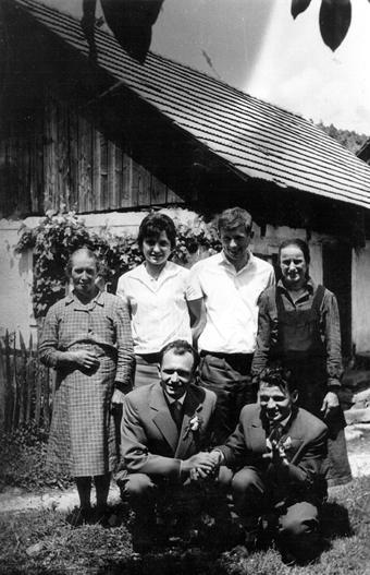 Lokve 1935 – Ženin Tone Kočevar in nevesta Ana Žnidaršič