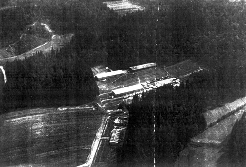 Teharje v gradnji leta 1943. Pogled proti jugovzhodu