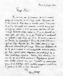 Sožalno pismo Lojzeta Šuštarja iz Rima