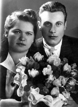 Poročna slika – Vida Tekavec in Stane Pavšič