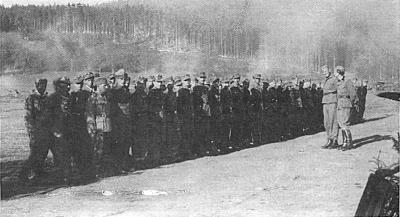 Zbor 16. čete Stiškega bataljona 16. maja 1945 v Vetrinju