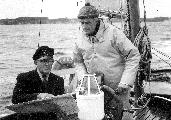 S kapitanom Karlom von Trotta na dvojambornici Möve