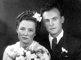 Poročna slika – Marija Šuštaršič in Miro Smolinsky