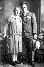 Ženin Dolfe Jelenc in nevesta Jerica Miklavčič
