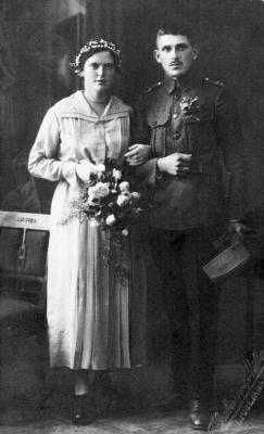 Poročna slika Antona Pirca in Marije Magajna