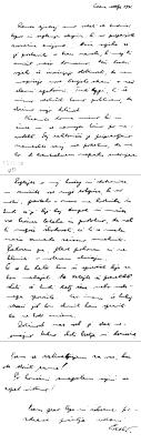 Cvetna nedelja 1941: Praperjevo pismo iz Ljubljane v Ptuj