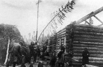 Izgnanci v »posebni naselbini« v Sibiriji 1933